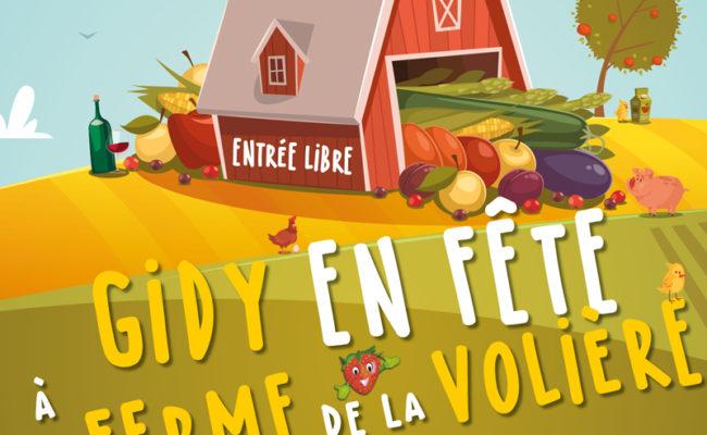 GIDY EN FETE A LA FERME DE LA VOLIERE !