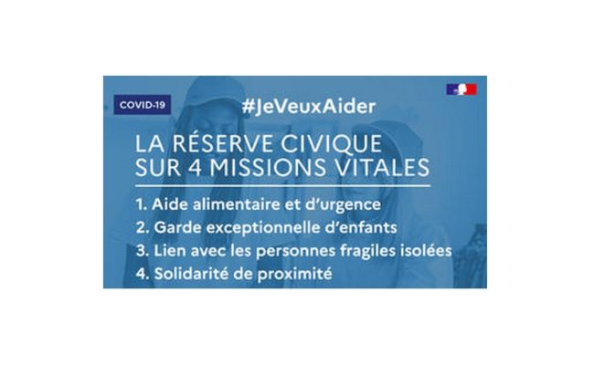 "Plateforme de mobilisation citoyenne ""jeveuxaider.gouv.fr"""