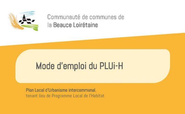 Mode d'emploi du PLUi-H
